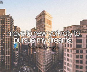 Dream, life, and new york image