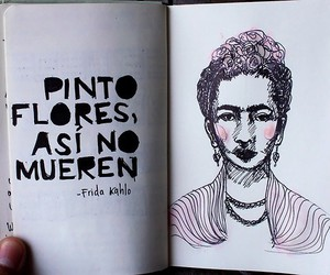 frida kahlo, flores, and Frida image