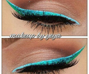 eye makeup, eyeliner, and eyes image