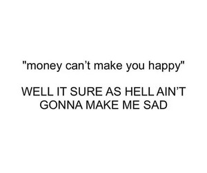 money, happy, and sad image