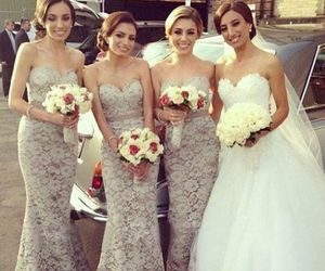 dress, wedding, and lace bridesmaid dresses image