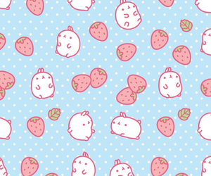 strawberry, cute, and molang image