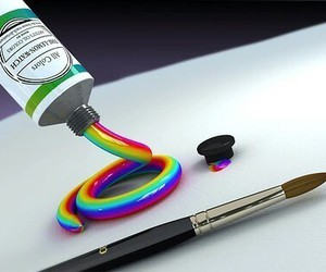 rainbow, paint, and art image