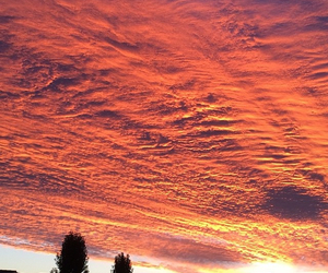 clouds, orange, and heaven image