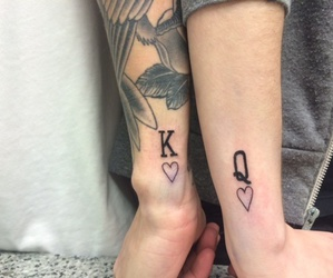 tattoo, king, and love image