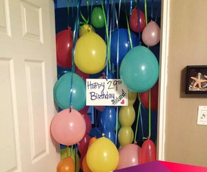birthday, balloons, and surprise image