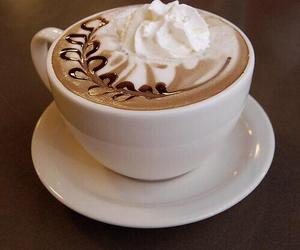 coffee, chocolate, and whipped cream image