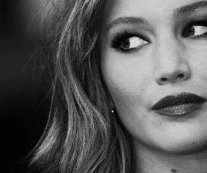 Jennifer Lawrence and black and white image