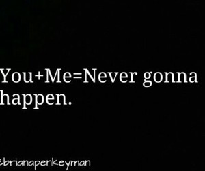 gonna, never, and happen image