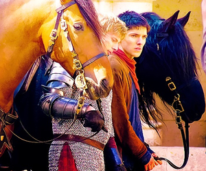 bbc, horses, and merlin image