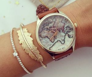 bracelet, feather, and watches image