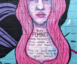 feminism, feminist, and art image