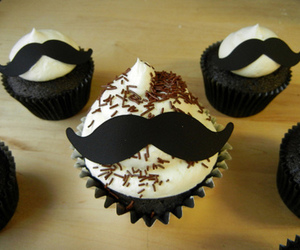 cupcake and moustache image