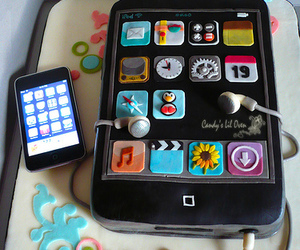 cake, iphone, and ipod image