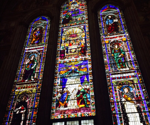 firenze, italy, and stained glass image