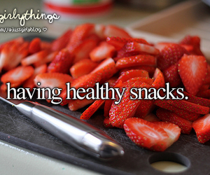 healthy, strawberry, and justgirlythings image