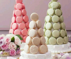 flowers, laduree, and macaron image