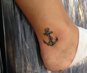 anchor, tattoo, and anker image