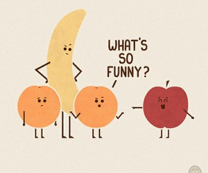 funny, banana, and orange image