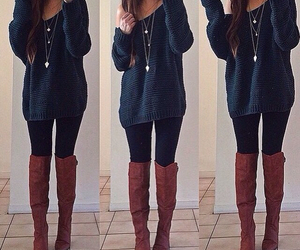 boots and sweaters image