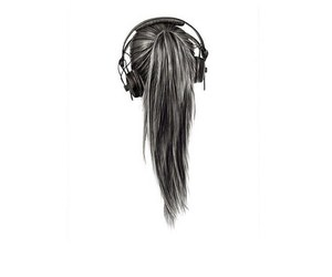 music, hair, and girl image