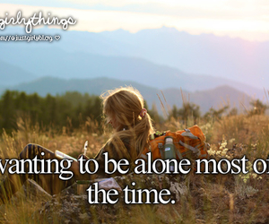 alone, quote, and justgirlythings image