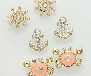 anchor, diamonds, and juwelry image