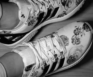 adidas, beautiful, and blackandwhite image