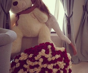 adorable, flowers, and gift image