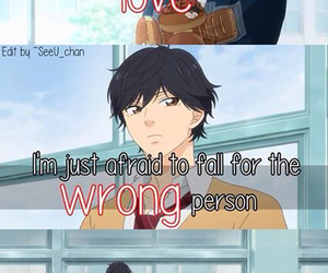 quote, ao haru ride, and love image