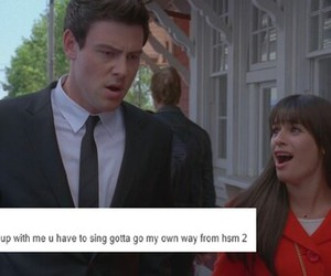 break up, funny, and glee image