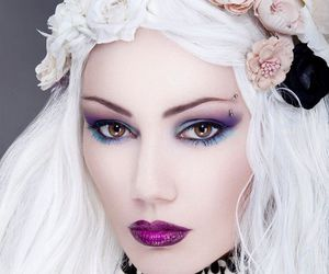 femme, beaute, and romantisme image