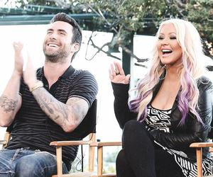 christina aguilera, maroon 5, and the voice image