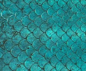 green, mermaid, and texture image