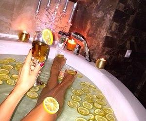 lemon, relax, and bath image