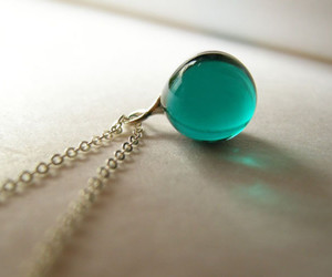 blue, necklace, and cute image
