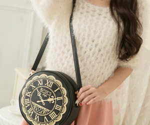 bag, korean fashion, and skirt image