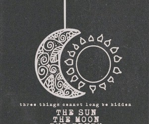 quote, moon, and sun image