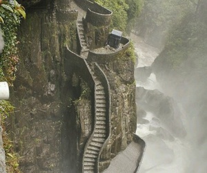 stairs, ecuador, and nature image