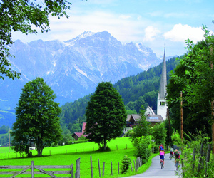 austria, bicycle, and countryside image
