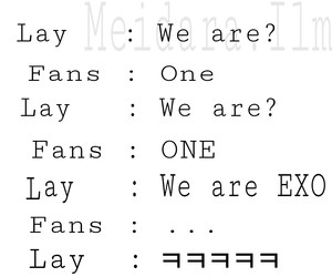 exo, lay, and exo funny image