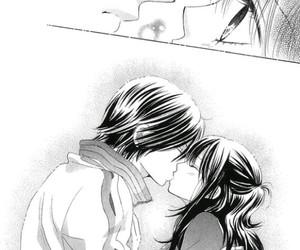 mangas, kiss scene, and love image