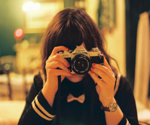 camera, girl, and canon image
