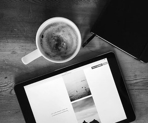 black and white, coffee, and hipster image