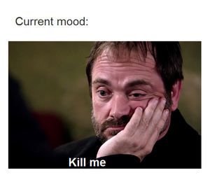 bad day, bored, and crowley image