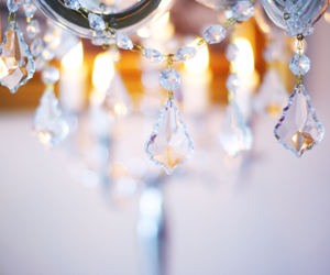 crystal, beautiful, and chandelier image