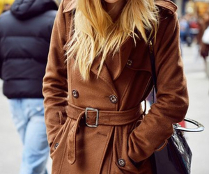 blonde, coat, and girl image