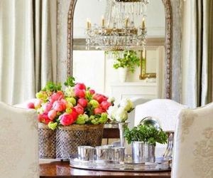 chandelier, color, and flowers image