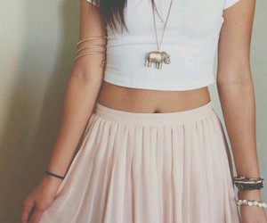 fashion, pink, and crop top image