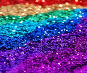 glitter, rainbow, and colorful image